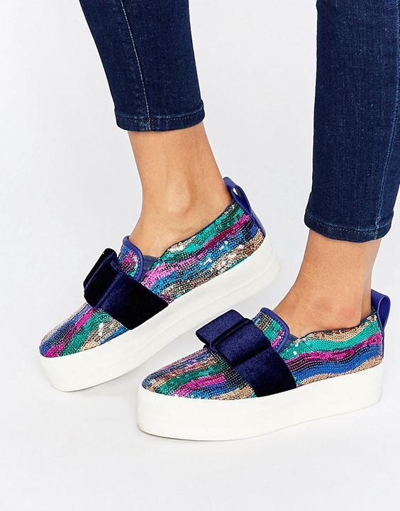 sequined plimsolls from asos