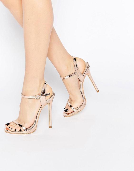 gold asos sandals