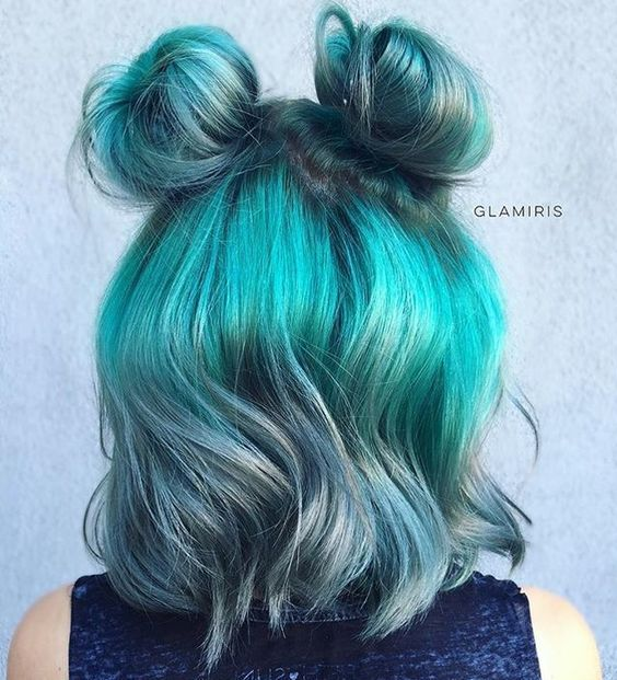 double bun hair