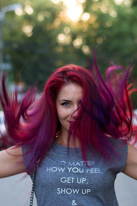 pravana haircolor magenta and purple