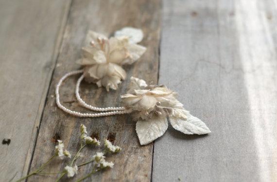 beaded flower hairpiece