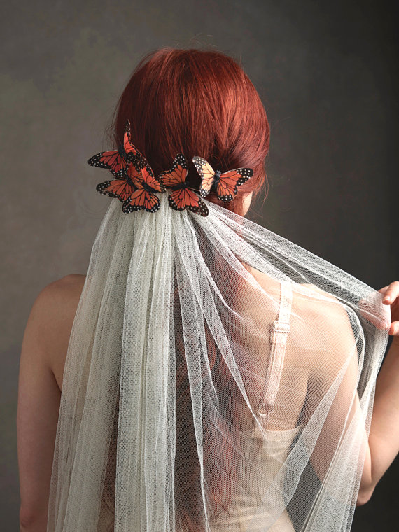 butterfly wedding hairpiece for veil bridal headpieces