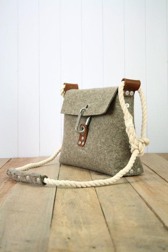 unique felt rope bag
