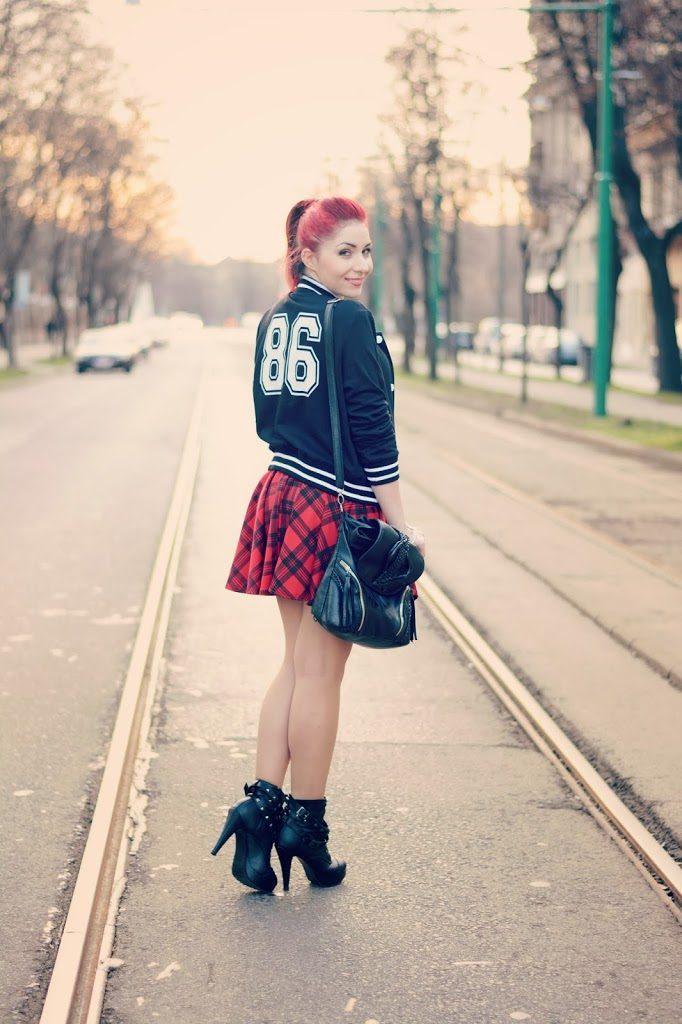 tartan printed skirt