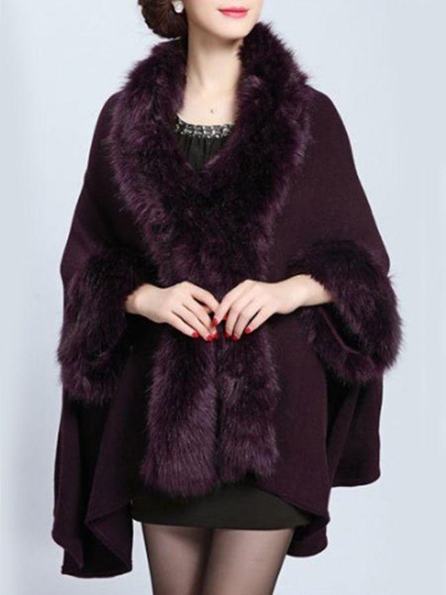 purple fur cape