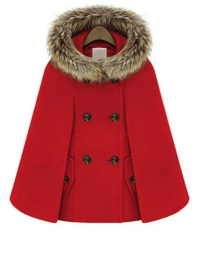 stylish fur cape