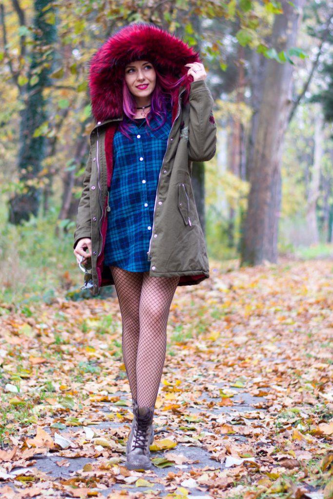 winter style warm jacket