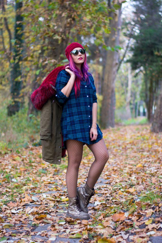 tartan shirt as dress