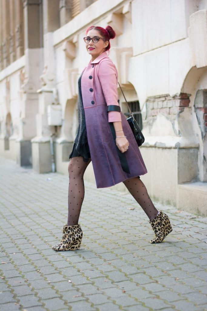 pink-purple suede trench coat