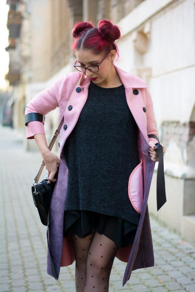 ombre suede trench coat