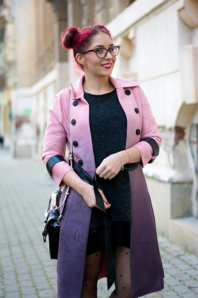 colored trench coat