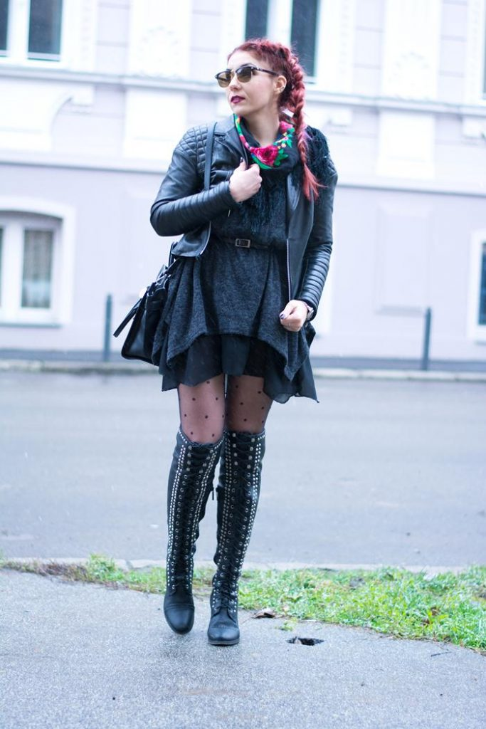 studded over the knee boots